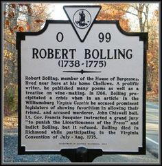 ROBERT BOLLING - The historical marker honoring Robert Bolling stands off Rt. 60 in Buckingham County, Virginia. Thomas Rolfe, Sic Semper Tyrannis, Love Bells, Virginia History, Creepy Pictures, Round Face Haircuts, Famous Photos, Richmond Virginia, Road Trip Usa