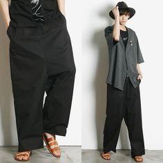 Remember Click Wide Leg Drawstring Pants BLACK ONE SIZE Korean Wear #RememberClick #CasualPants