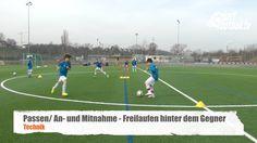 Freilaufen hinter dem Gegner - Ballkontrolle - Technik