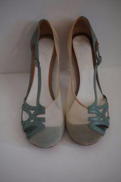 VINTAGE MAISON MARTIN MARGIELA green leather high heels 37 6.5 7 multicolor pump #MaisonMartinMargiela #PumpsClassics #Party