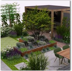 Back Gardens, Pavement, Backyard Patio, Garden Projects, Garden Inspiration, Oasis, Home And Garden, Places, Flowers