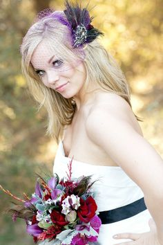 purple birdcage veil  |  meghan wiesman photography