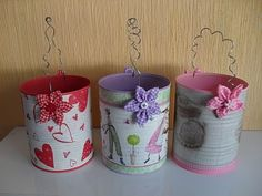 latas de leite Soup Can Crafts, Tin Can Crafts, Wire Crafts, Diy And Crafts, Crafts For Kids, Arts And Crafts, Recycle Cans, Tin Art, School Decorations