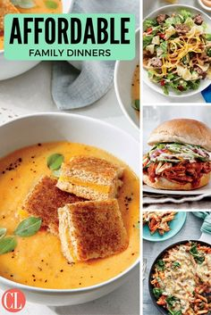 Our economical and family-friendly dinners make it easy for even novice cooks to whip up healthy weeknight meals. each recipe requires minimal equipment, Cheap Healthy Family Meals, Affordable Healthy Meals, Easy Cheap Dinner Recipes, Healthy Weeknight Meals, Cheap Dinners, Healthy Dinner Recipes, Cheap Recipes, Family Recipes, Kitchens