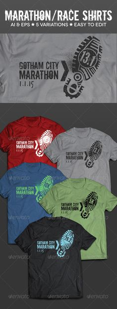 Race & Marathon Running Shirts - T-Shirt Template Vector EPS, AI. Download here: http://graphicriver.net/item/race-marathon-running-shirts/8429698?ref=ksioks
