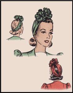 1940's Turban Hat Printable Pattern