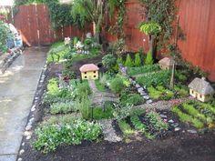 """Make a """"wee village"""" garden.  51 Budget Backyard DIYs That Are Borderline Genius"""
