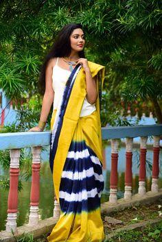 Battick print cotton saree with blouse | Elegant Fashion Wear