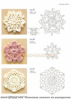 Ondori motif and edging designs by Crowe Berry - issuu arts and craft books: motif & edging designs magazine, free crochet books - crafts ideas - crafts for kids Crochet Knitting Handicraft: patterns of fragments with the schemes. Crochet Motifs, Crochet Flower Patterns, Crochet Diagram, Crochet Chart, Crochet Squares, Crochet Doilies, Crochet Flowers, Crochet Stitches, Granny Squares