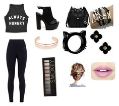"""""""Bored"""" by cherypi on Polyvore featuring NIKE, MICHAEL Michael Kors, Tory Burch, Leith, Fiebiger and Forever 21"""