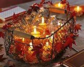 Autumn candlelight