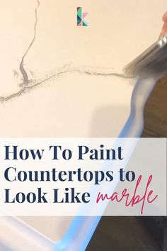 Have countertops you don't like but no budget to replace them? You can PAINT them to look like gorgeous marble for around $150. It's easy and durable. Get the detailed tutorial of how to paint countertops here at Kaleidoscope Living