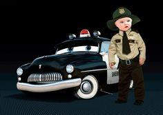 Fotomontajes infantiles Disney. Montaje Cars Infantil con Sheriff.