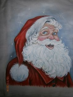 Inês No Mundo Das Artes!: Riscos dos Papai Noel do youtube! Santa Paintings, Christmas Paintings, Santa Pictures, Christmas Pictures, Father Christmas, Christmas Art, Tole Painting Patterns, Santa And Reindeer, Window Art