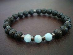 Men's Aquamarine Mala Bracelet