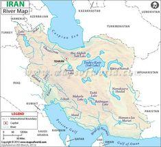 İran haritası nehirler