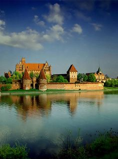 Malbork Castle - Poland -  the largest castle in the world by surface area, and the largest brick building in Europe.
