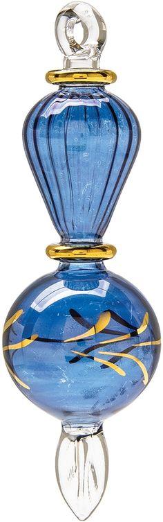 Layla (Born at Night) Egyptian Hand Blown Glass Ornament (5.5-Inch, Lapis Blue) | Luna Bazaar