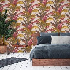 Rosy Autumnal Jungle Trail Wallpaper - Default Title