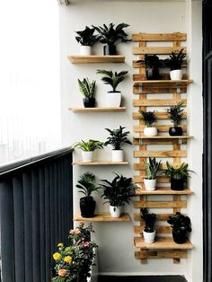Solution Ideas for Small Balcony: Wall Planter - Unique Balcony & Garden Decoration and Easy DIY Ideas Garden Garden apartment Garden ideas Garden small Small Balcony Decor, Small Balcony Garden, Small Balcony Design, Indoor Garden, Indoor Plants, Balcony Ideas, Balcony Plants, Narrow Balcony, Small Balconies
