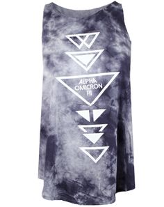 Alpha Omicron Pi Triangles Tie Dye Tank Top by Adam Block Design | Custom Greek Apparel & Sorority Clothes | www.adamblockdesign.com