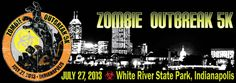 The Zombie Outbreak 5K is being held at White River State Park on Saturday, July 27!