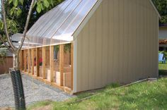 **READ: Polycarbonate siding on greenhouse + heat sink