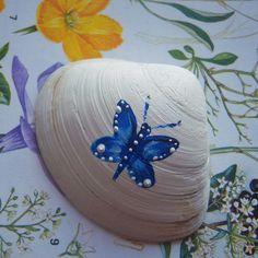 Butterfly Painted Sea Shell - Folksy