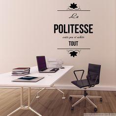 Stickers muraux citations - Sticker La politesse coute...   Ambiance-sticker.com