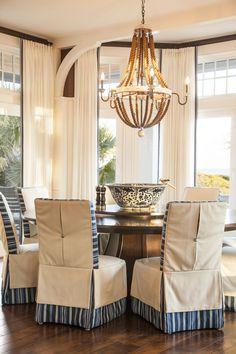 Marino Dining Room. Slipcovered Chairs