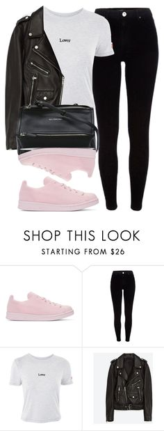 """""""Untitled #6712"""" by laurenmboot ❤ liked on Polyvore featuring adidas Originals, River Island, Topshop, Jakke and Givenchy"""