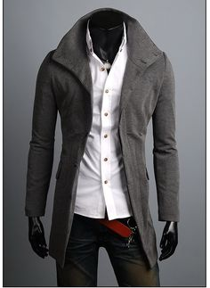 #EverydayStyle:KOREAN Mens Slim Fit Premium Jacket Single China Blazer Coat