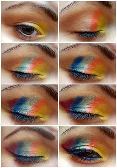 DIY Rainbow Make up