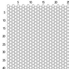 Drop Peyote Stitch Graph Paper  Size  Seed Beads  Fusion