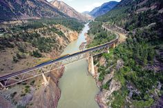 Canyon Bridge over the Fraser River near Lillooet, BC....My Childhood Memories!!!