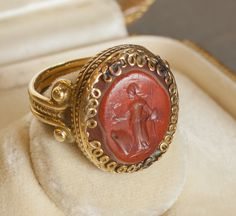Roman-Byzantine  Gold ring with sardonyx intaglio  3rd century BCE  Adornment  Gold with reddish sardonyx