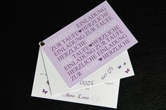 Einladungskarte Taufe Einladung Danksagung