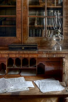 Antique desk with lots of storage areas. Antique Desk, Antique Furniture, Home Goods Decor, Home Decor, English Style, Writing Desk, Decoration, Home Office, Office Spaces