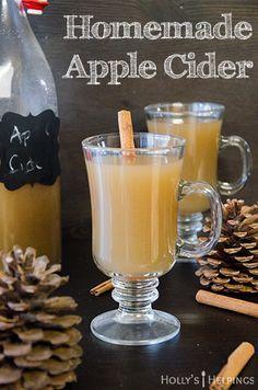 Homemade Apple Cider | hollyshelpings.com