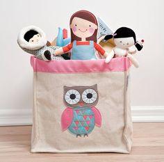 owl storage hamper by the little blue owl | notonthehighstreet.com