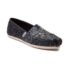 Womens TOMS Classic Lace Glitz Slip On Casual Shoe