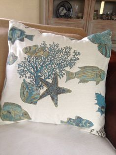 Tropical Fish Pillow Cover by Caswellandcompany on Etsy