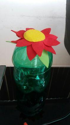 Potes garrafa personalizada reciclável