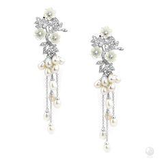 Floral Celebrations Silver Earrings - C$1,199 Exclusive FERI 950 Siledium silver…