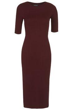 Bodycon Midi Dress. Cute basic in aubergine. Thinking of you Kristin Forgrave.