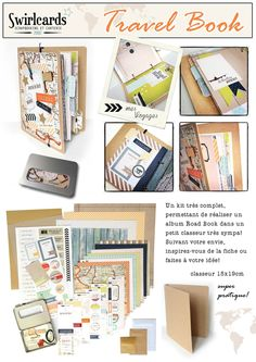 Road Book en classeur. Kit Swirlcards