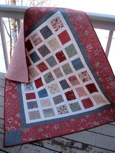 Simply LA BELLE FLEUR 54x60 quilt in soft rose by pinetreelodge, $156.00