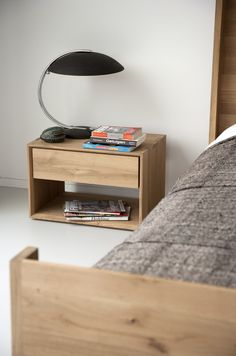Ethnicraft Nordic II bedside table--now available in teak.
