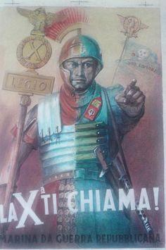 Decima Flottiglia MAS propaganda poster - pin by Paolo Marzioli