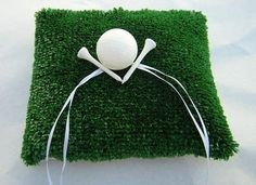 Golf Theme Ring Bearer Pillow @USHoleInOne